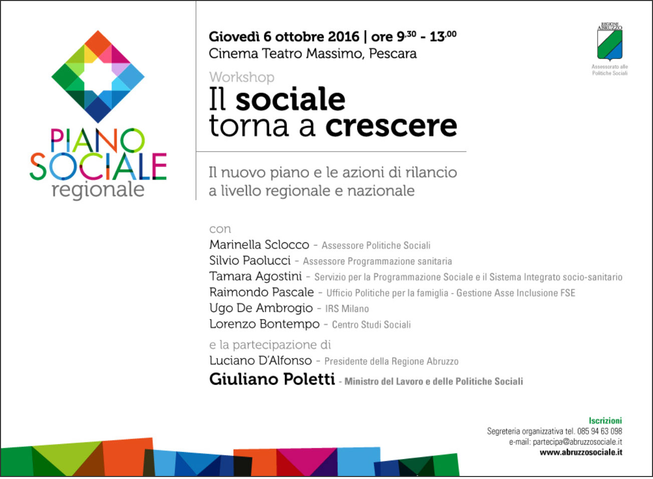 Workshop sul nuovo Piano Sociale alla presenza del Ministro Poletti