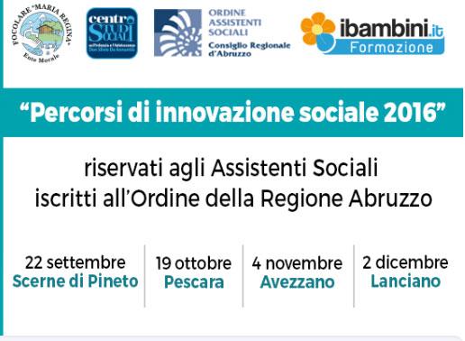 Percorsi di innovazione Sociale 2016. Quattro date a partire dal 22 settembre