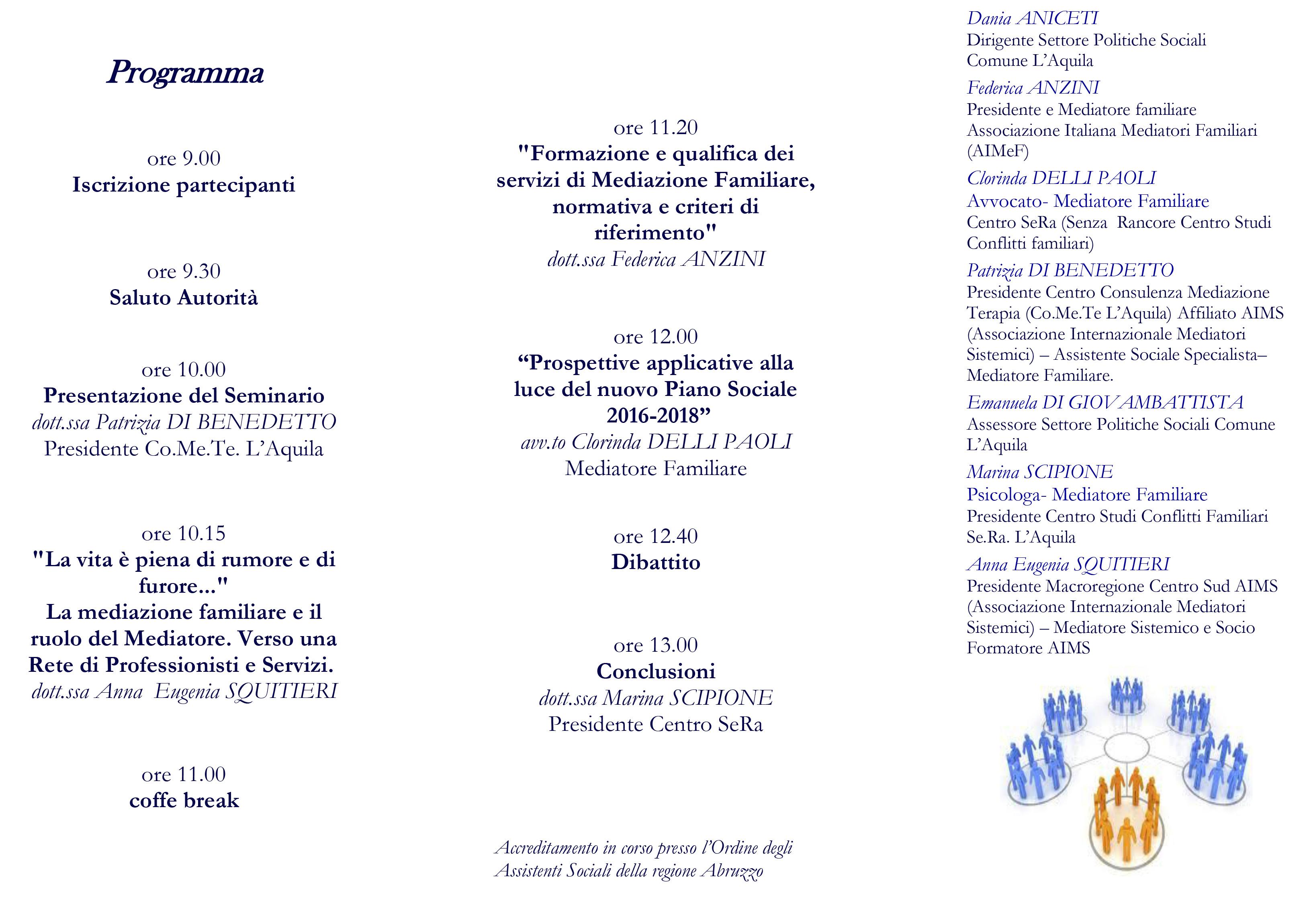 'La mediazione familiare in rete' seminario d'aggiornamento all'Aquila
