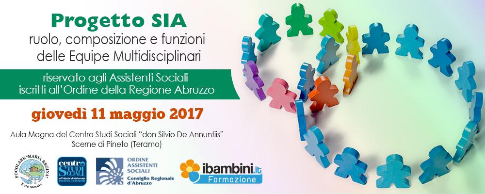 Progetto Sia , seminario operativo su composizione equipe multidisciplinari