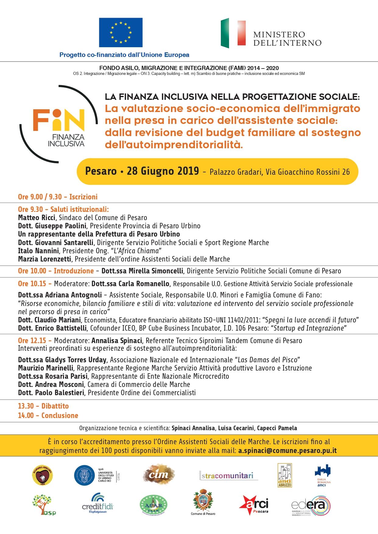 La finanza inclusiva nella progettazione sociale