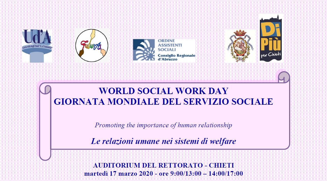Giornata Mondiale del Servizio Sociale 2020