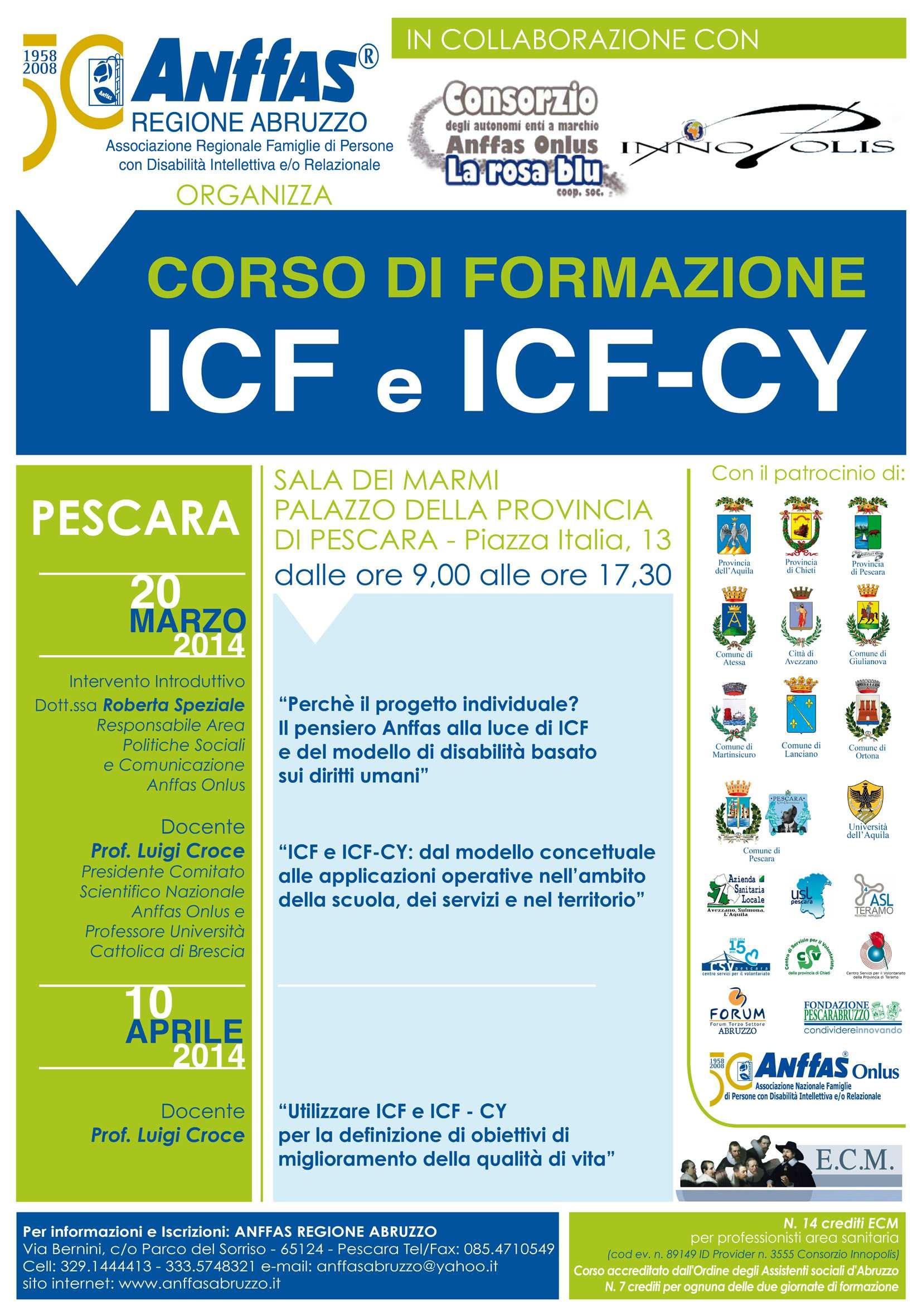 Corso di Formazione ICF e ICF-CY